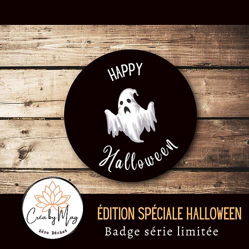 Badge Halloween motif Fantôme