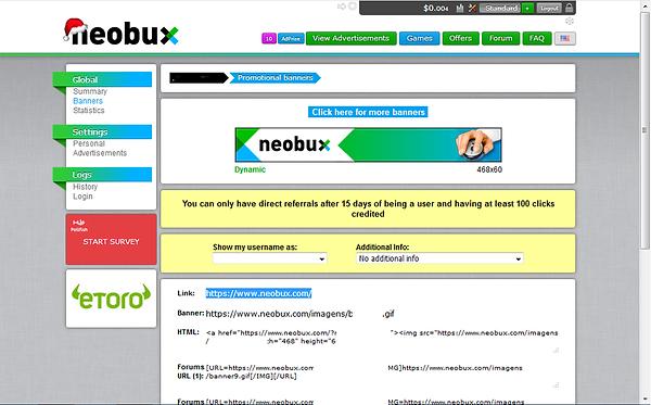 neobux 14 ,referrals