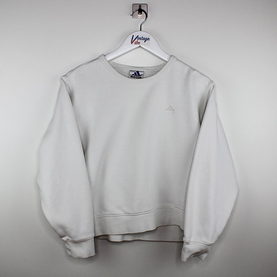 Adidas Vintage Sweatshirt weiß - S