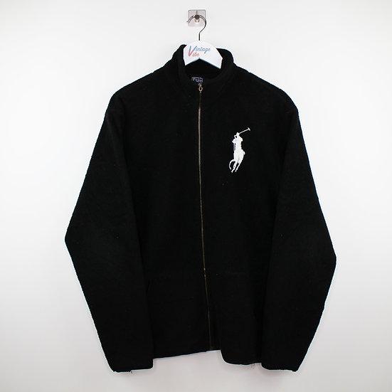 Ralph Lauren Vintage Sweatshirt-Jacke schwarz - L