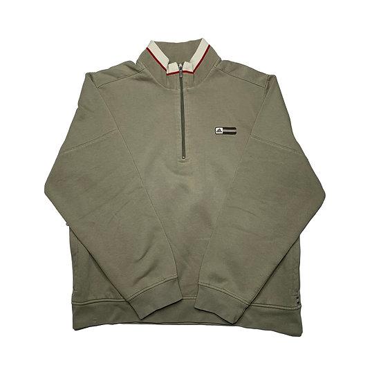 Adidas Vintage Halfzip Sweatshirt khaki - L