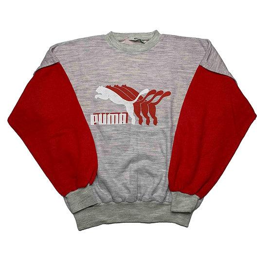 Puma Spellout Vintage Sweatshirt grau / rot - M