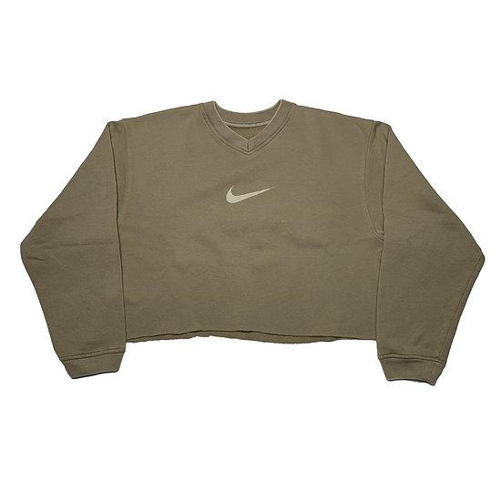 Nike Swoosh Vintage Cropped Sweatshirt beige -
