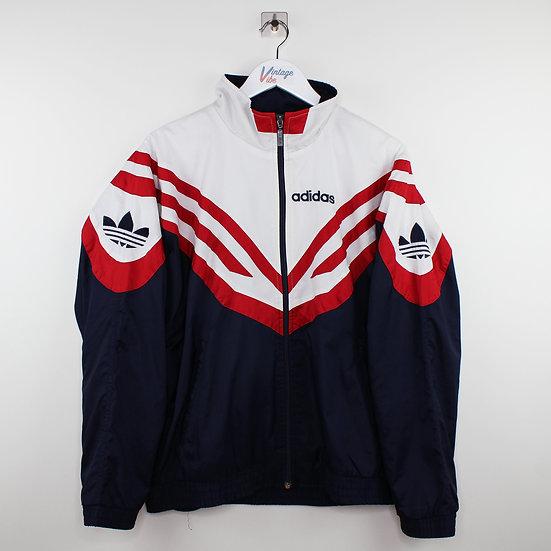 Adidas Vintage Jacke blau / weiß / schwarz - M