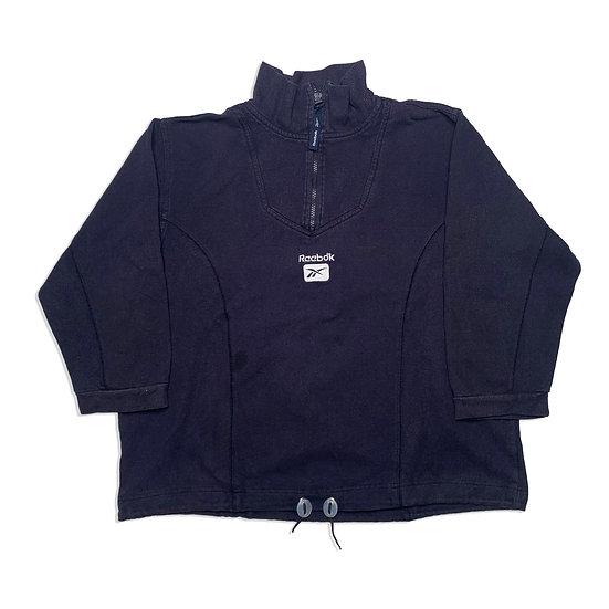 Reebok Vintage Halfzip Sweatshirt dunkelblau - M