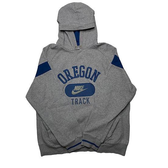 Nike Spellout Vintage Hoodie grau / blau - L