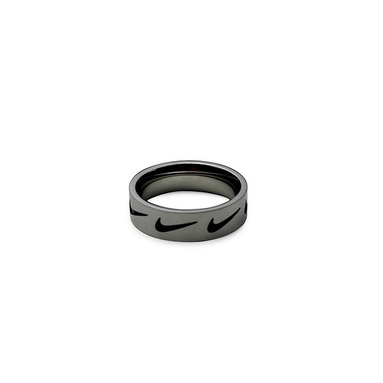 Swoosh Ring- Black Swoosh