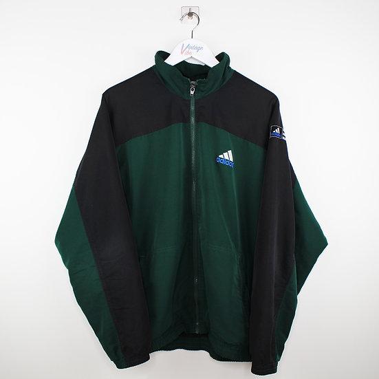 Adidas Backprint Vintage 90s Jacke dunkelgrün / schwarz - L