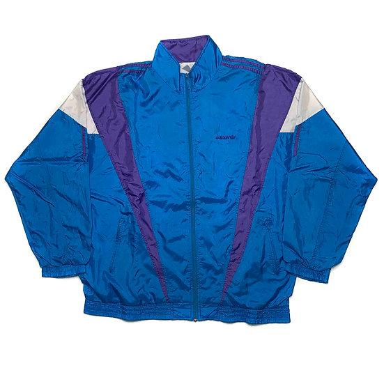 Adidas Vintage Jacke blau / lila / weiß - L
