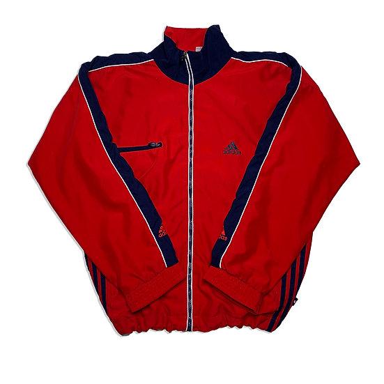 Adidas Vintage Jacke rot / blau - S