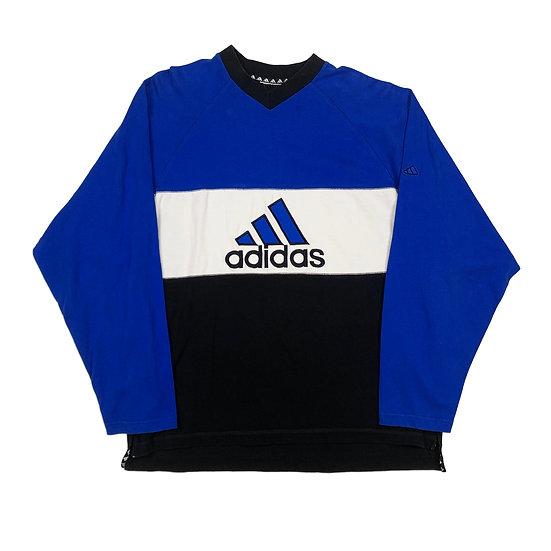 Adidas Spellout Vintage Sweatshirt weiß / blau - XL