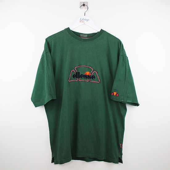 Ellesse Spellout Vintage T-Shirt grün - XL