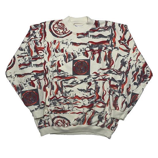 Reebok Vintage Sweatshirt beige / rot / grau - M