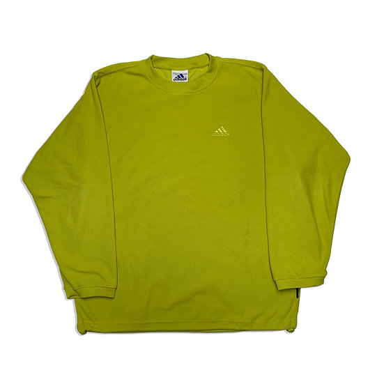 Adidas Fleece Vintage Sweatshirt gelb - XS