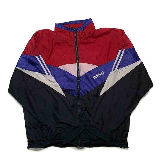 Adidas Vintage Jacke rot / weiß / blau - L