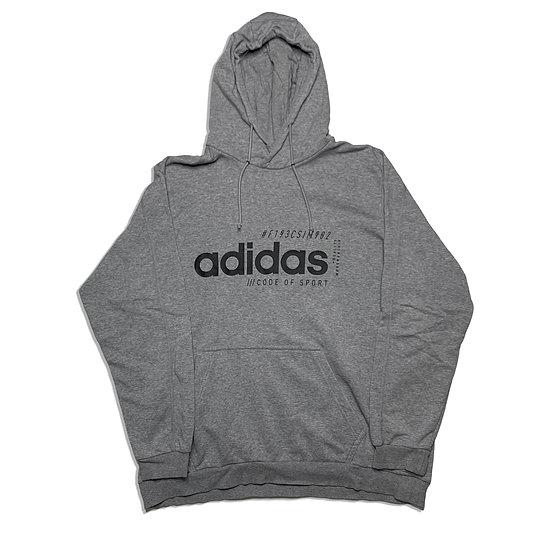 Adidas Spellout Hoodie grau / schwarz - XXL