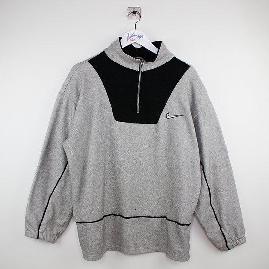 Nike Vintage Halfzip Sweatshirt grau - L