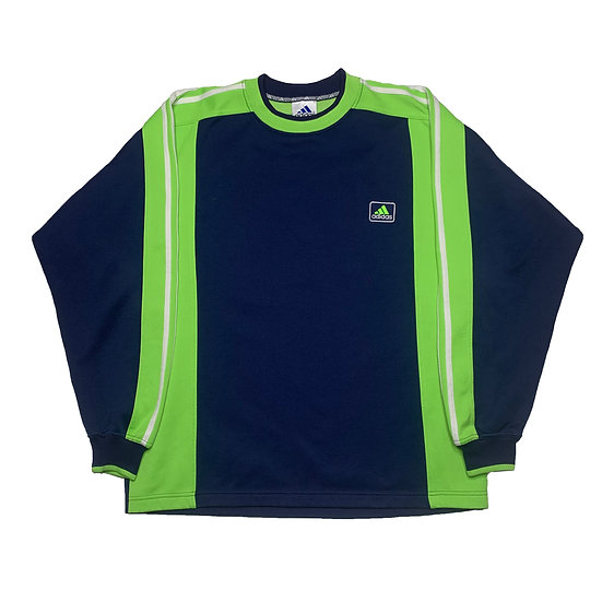 Adidas Vintage Sweatshirt blau / grün - L