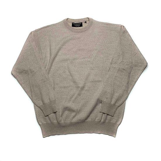 Basic gestricktes Sweatshirt beige - L