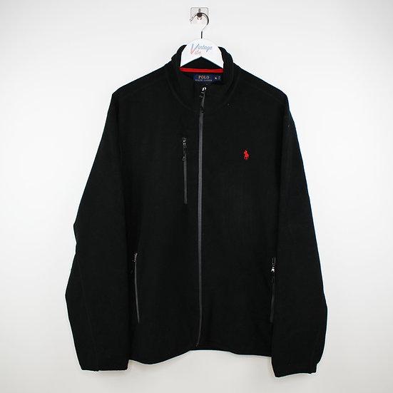 Ralph Lauren Fleece Jacke schwarz - XL