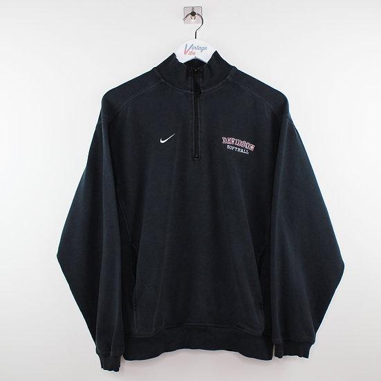 Nike Pro Sport Halfzip Sweatshirt schwarz - XS