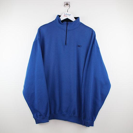Reebok Vintage Halfzip Sweatshirt blau - XXL