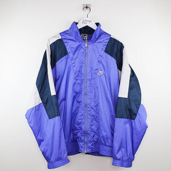 Nike Vintage Jacke blau / schwarz / lila - XL