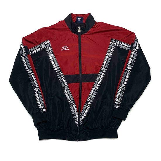 Umbro Vintage Jacke rot / schwarz - L