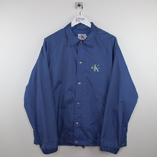 Calvin Klein backprint Vintage Jacke dunkelblau - L
