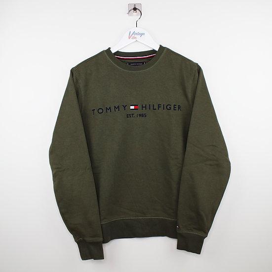 Tommy Hilfiger Spellout Vintage Sweatshirt dunkelgrün - S