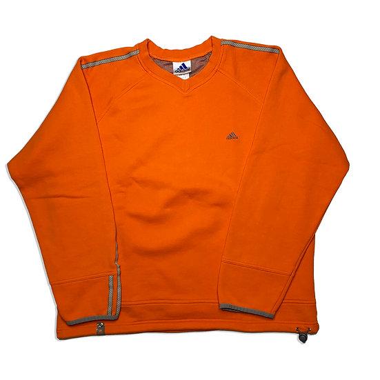 Adidas Vintage Sweatshirt orange / grau - M