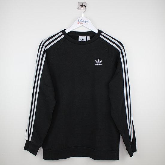 Adidas Sweatshirt schwarz / weiß - S
