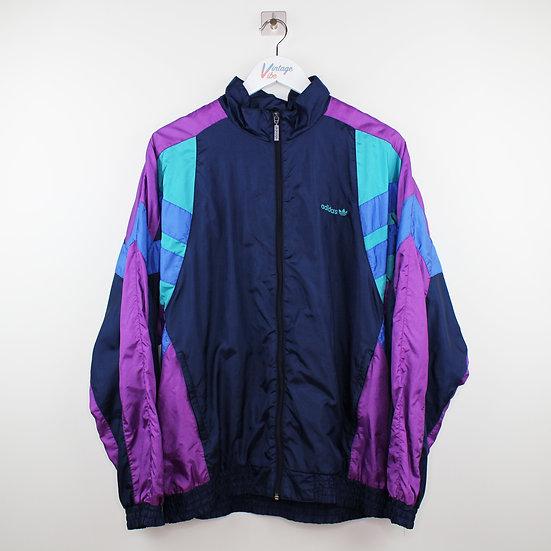 Adidas Vintage Jacke blau / lila / türkis - M