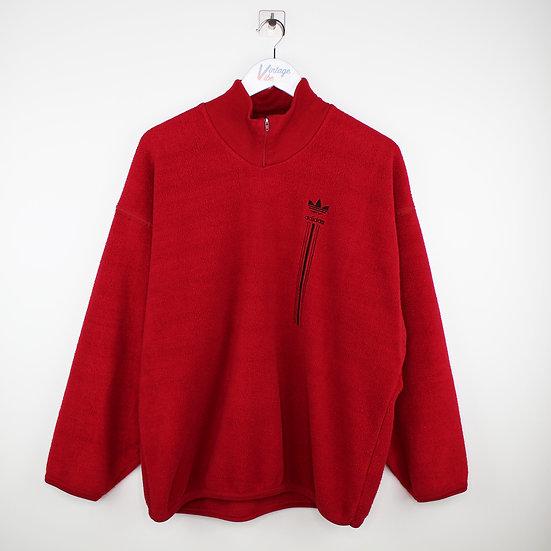 Adidas Vintage Halfzip Sweatshirt rot - XL