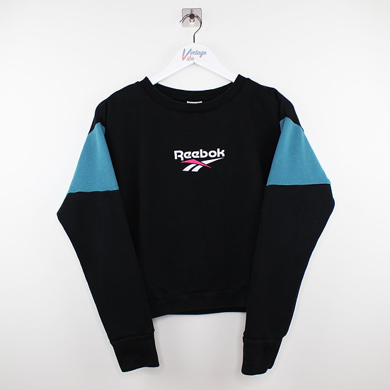 Reebok Cropped Vintage Sweatshirt schwarz / blau - XS