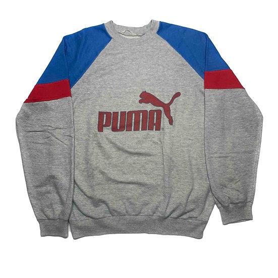 Puma Spellout Vintage Sweatshirt grau / rot / blau - L