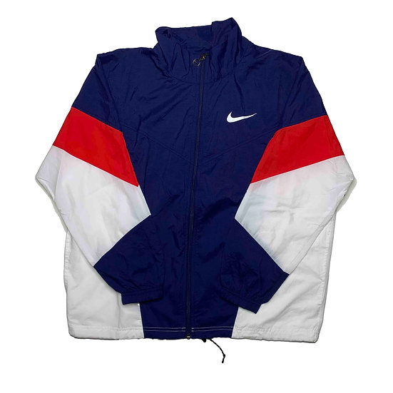 Nike Swoosh Vintage Jacke blau / rot / weiß - S