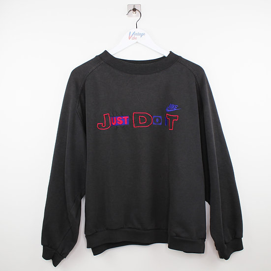 Nike Just do it Vintage Sweatshirt schwarz - M