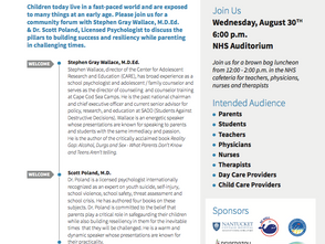 """Task Force partners with community organizations to host """"Parenting in Challenging Times"""""""