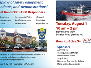Nantucket Public Safety Awareness Day is happening Tuesday, August 1st!