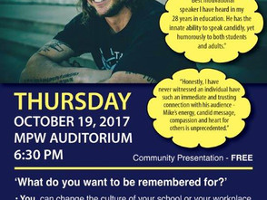 Mike Smith Live Thursday, Oct. 19