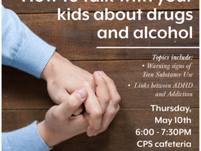 How to talk to your kids about drugs event May 10