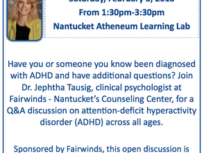 ADHD Discussion with Dr. Tausig at the Atheneum