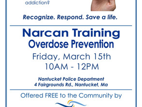 Narcan Training March 15th Free NPD 10 AM to Noon