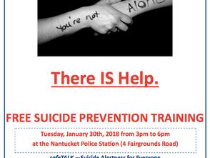Free Safe Talk Training, RSVP by Jan. 26