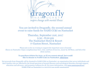 Dragonfly Fundraising Event for NAMI CC&I on Nantucket on September 21st