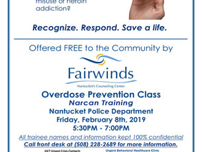 NARCAN Training February 8, 2019 Free at NPD 5:30-7:30 PM