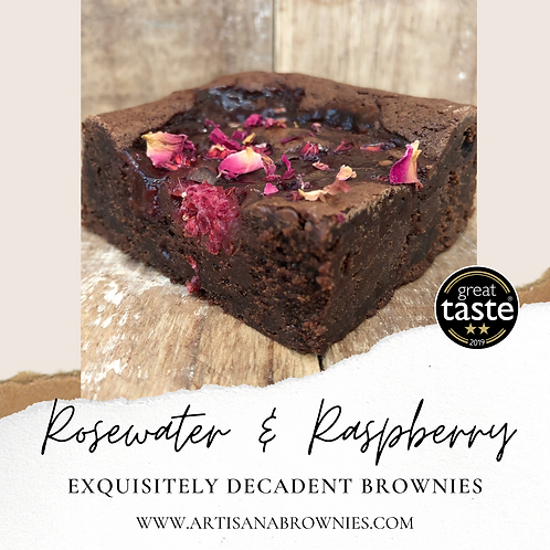 Box of Rosewater & Raspberry Brownies NGCI - from