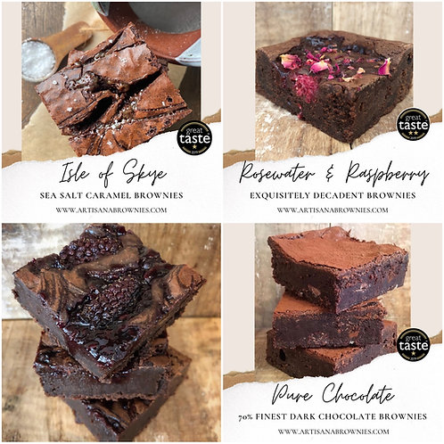 Mixed Box of 4 Large Brownies ( 2 flavours)