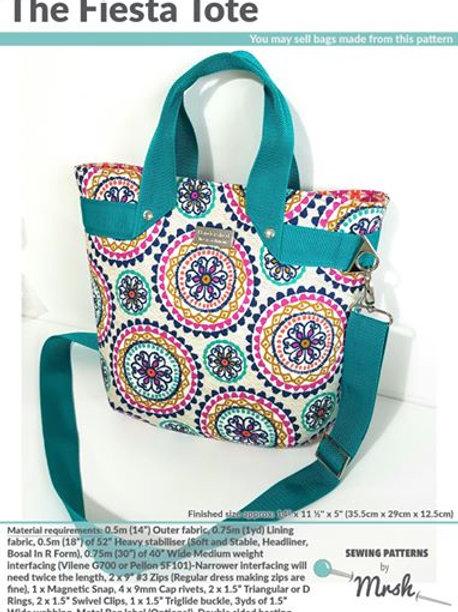Mrs H Fiesta Bag Pattern